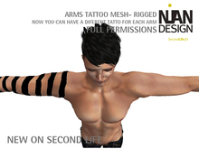 Arms Mesh Tattoo RIGGED KIT - NEW ON SECOND LIFE FULL PERMISSIONS