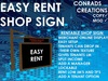 Easy Rent Shop Sign (boxed)