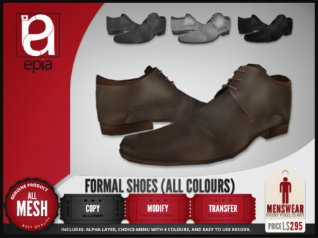 (epia) - Formal Shoes ALL COLOURS