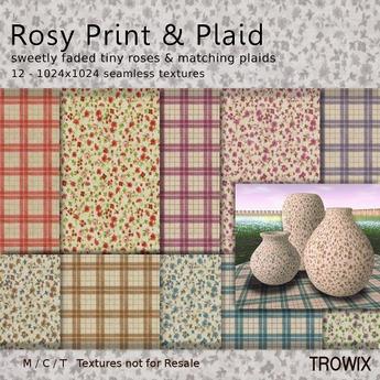 Trowix - Rosy Print & Plaid Textures