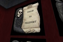 Grim Scroll Teleport Sign - use it to give your visitors a fun way to your next location