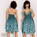 "*VEXTRA FASHION* ""Margarita"" Halter Dress - Blue"