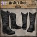 *LightStar-Western Boots-Black
