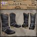 *LightStar-Western Studded Boots-Black
