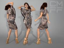 CMFF Silk Drape Dress (Mesh)