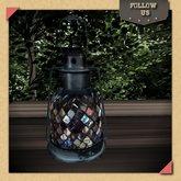 Updated !! Follow Us !! Lampe lantern metal blue