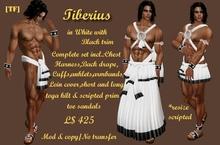 TIBERIUS -white with black trim(BOXED)