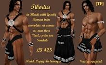 TIBERIUS -Black w/Greek/Roman trim(BOXED)