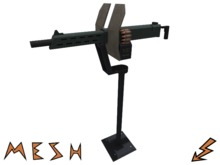 Mesh Machine Gun with Stand - decorative prop