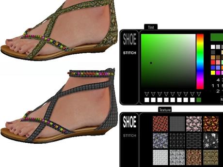 ::JIM:: Mesh Beach Sandal Texture Change-12 Textures