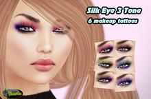 .:Glamorize:. Silk Eye Makeup 3Tone - 6 Eye Makeup Tattoos