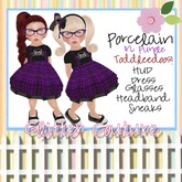 G*C Porcelain Dolly Toddleedoo in Purple *Toddleedoo*