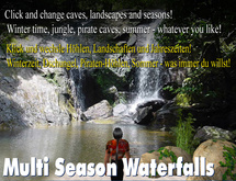 waterfall, cave, grotto: Multi Season Waterfalls with different caves