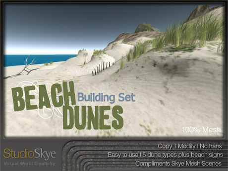 NEW+ Beach Dune Building Set from Studio Skye 100% MESH