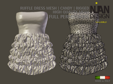 PROMO SUMMER 50% --- RUFFLE DRESS MESH *CANDY* RIGGED FULL PERMISSIONS