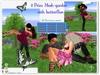 2 prim Mesh garden,butterfly emitter,20 poses single/couple