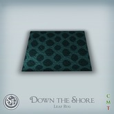 ".:SF:. ""Down the Shore"" Leaf Rug"