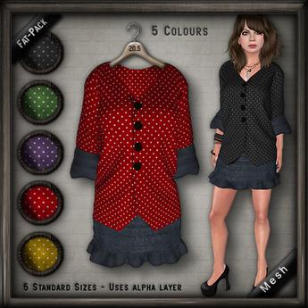 20.FIVE Mesh Blouse w Skirt