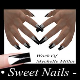 Long Nails 20 Color Black Zip Catcher Metalico Collection NAIL ROCK