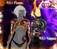 [][]Trap[][] Ryu Flames/Rainbow Full Body Dragon tattoo