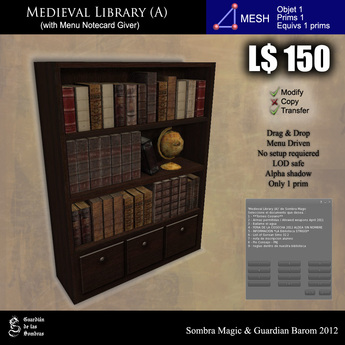 LOW PRIM - Medieval library (A) [G&S]
