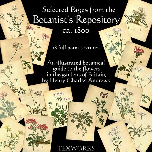 MD Folio Set: Botanist's Repository - 18 textures (Boxed)