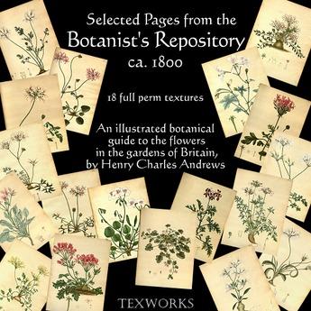 MD Folio Set: Botanist's Repository - 18 textures (Boxed)