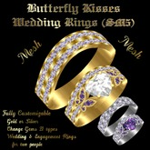 Butterfly Kisses Wedding Rings (SM5)