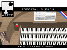 ART 0026 - TOCCATA  J.S. Bach for pipe organ (boxed)
