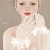 tomoto, lace gloves