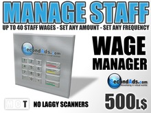 SecondAds Wage Manager (Transfer Edition) - Pay Staff Wages & Salaries