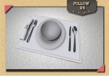 !!!Follow Us!!! Set dinner white mesh x2