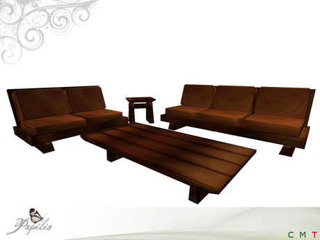 Second Life Marketplace - 7 Prims, Japanese Style Living Room Set