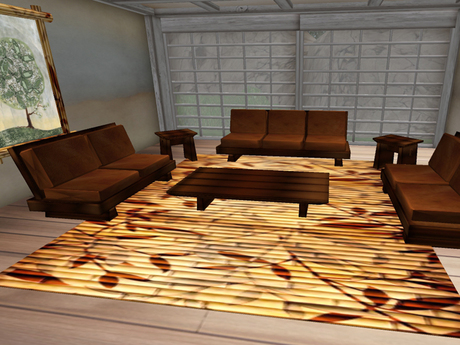 Second Life Marketplace 7 Prims Japanese Style Living Room Set