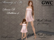 GWC Mommy and Me Dress D Pattern 4 both