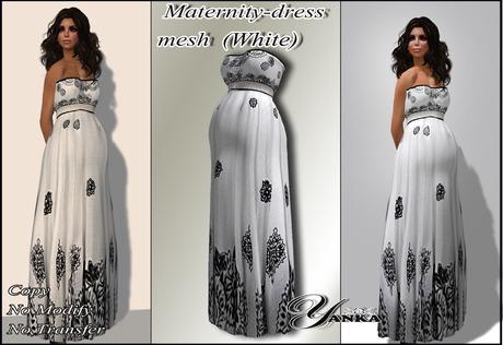 Maternity dress  mesh White from <<Yanka>> PROMO