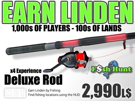 Linden Fish Hunter - Deluxe Rod - Earn Linden hunting for fish