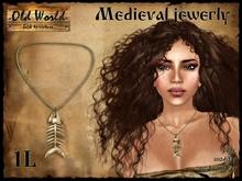 Medieval necklace - fish bone - Old World - Medieval / Fantasy / Rustic