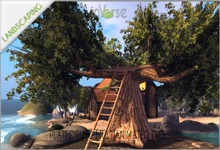Platformed tree with couple anims