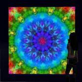 Rainbow Burst Moving Mandala Kaleidoscope (framed)- WOW!