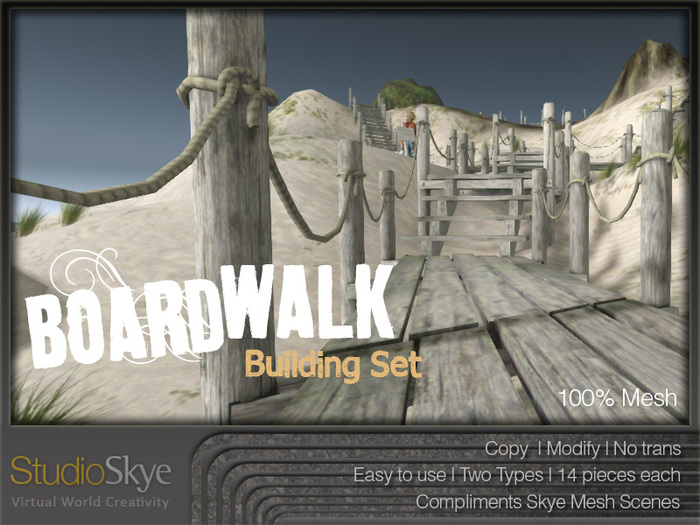PROMO PRICE Boardwalk Building Set from Studio Skye 100% MESH