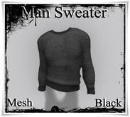 [[>CaKe!<]] Mesh-Mens Sweater -Black