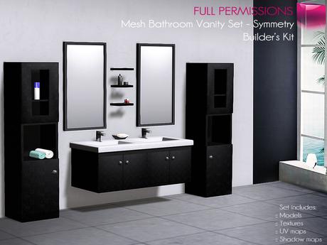 Full Perm Mesh Bathroom Vanity Set Symmetry - Builder's Kit