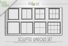 Sculpted windows set