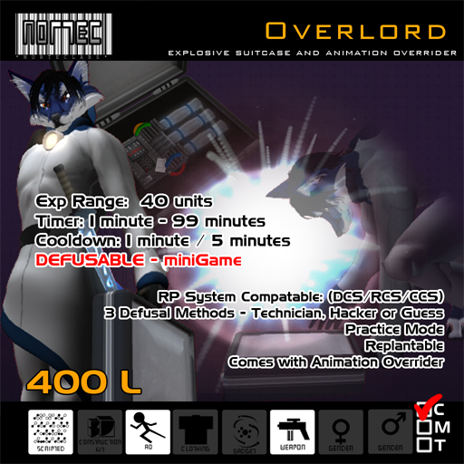 Overlord - Defusable Bomb Suitcase with Animation Overrider