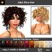 A&A Riha Hair 11 Colors Value Pack. Rich spiral curls shoulder length hair.