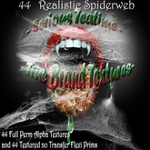 Spider Web/Cobweb 44 Realistic Alpha Textures and 44 Textured no Transfer Flexi Prims
