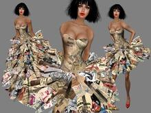 Boudoir -Newspaper Dress 1