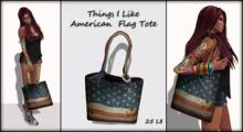 Things I Like - American Flag TOTE Bag