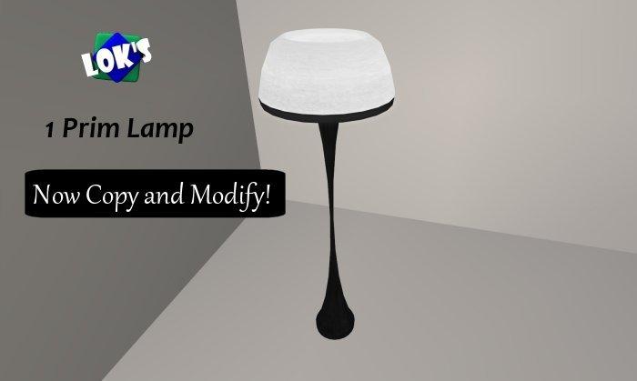 *Lok's* 1 Prim Halogen Floor Lamp (White/Black)